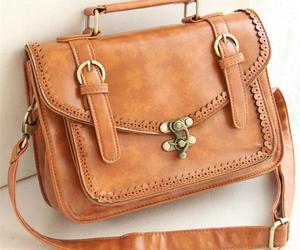 bag, brown, and stylish image