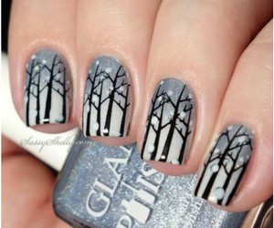 nails, winter, and nail art image