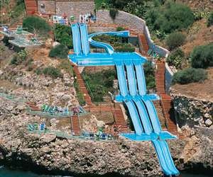 water, slide, and fun image