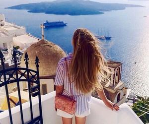 hair, summer, and sea image