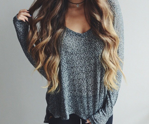 dye, long hair, and ombre image
