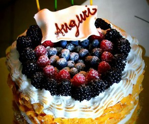 beautiful, berries, and birthday image