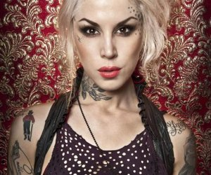 face, kat von d, and Tattoos image