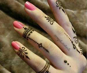 beautiful, hands, and henna image