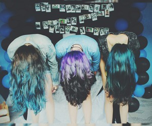 blue, cabelo, and color image