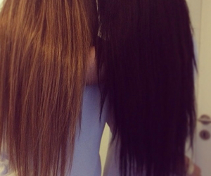 blond, brunette, and hairs image