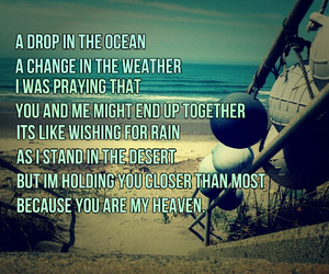 Lyrics, ron pope, and a drop in the ocean image