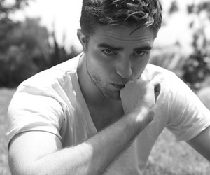 robert pattinson, black and white, and boy image