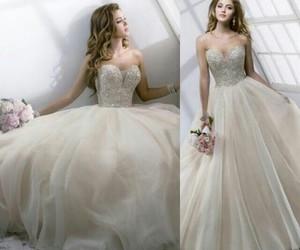 white, dress, and fashion image