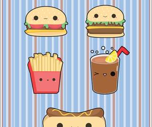 kawaii, food, and burger image