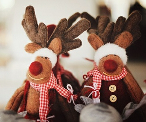 christmas, reindeer, and winter image