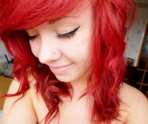 girl, red hair, and h4ils image