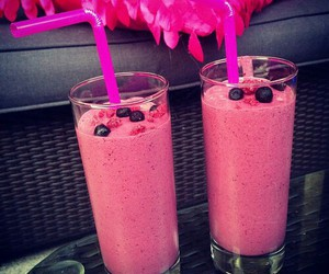 pink, drink, and fruit image