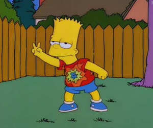bart, funny, and hippie image