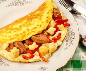 egg, food, and sausage image