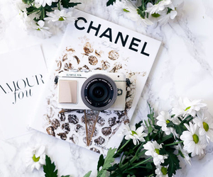 chanel, flowers, and camera image