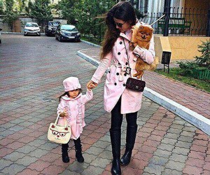 pink, daughter, and mother image