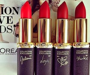 loreal, lipstick, and makeup image