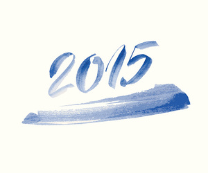 2015, blue, and happy new year image