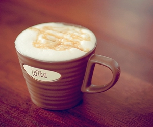 latte, coffee, and cup image