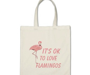 accessories, flamingo, and tote image