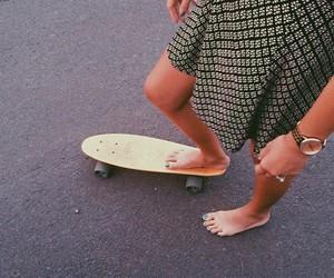 dress, girl, and skate image