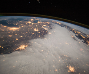 atmosphere, clouds, and earth image