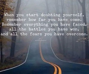 courage, doubt, and fear image