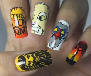 disney, nail art, and nails image