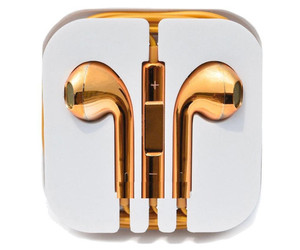 beats, gold, and earbuds image