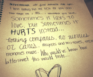 hurt, hurts, and someone like you image