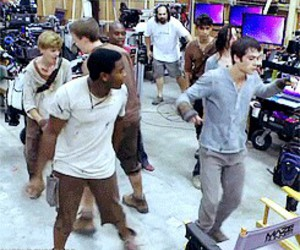 cast, maze, and runner image