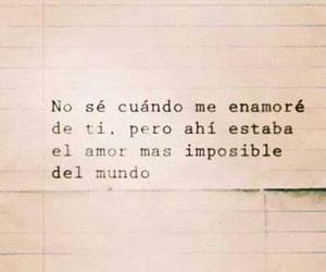 love, frase, and imposible image