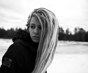 beauty, blonde, and dreadlocks image