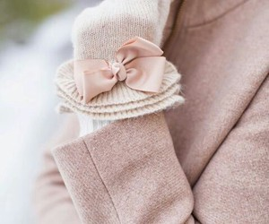 fashion, bow, and gloves image