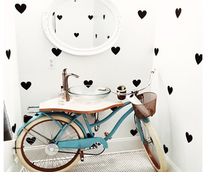 bathroom, bike, and design image