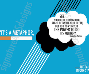 metaphor, the fault in our stars, and cigarette image
