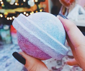 lush, blue, and pink image