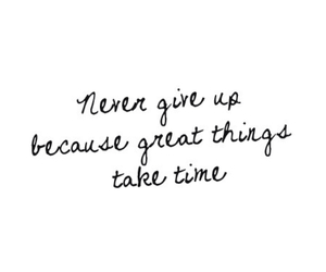 never give up, overlays, and tumblr image