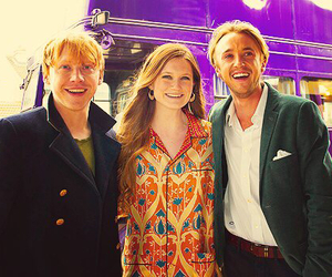 tom felton, rupert grint, and bonnie wright image