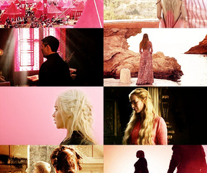 game of thrones, sansa stark, and cersei lannister image