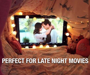 night, perfect, and movies image