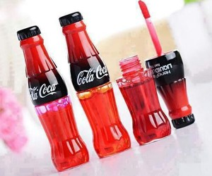 coca cola, lipstick, and lips image