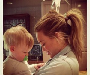 Hilary Duff and baby image