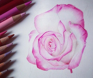 art, drawing, and flowers image