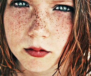 beautiful, faces, and freckles image