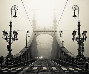 bridge, budapest, and photography image