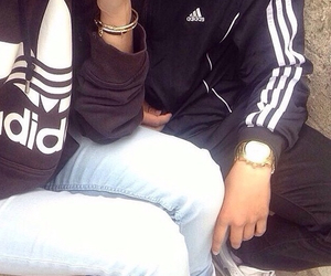 adidas, couple, and cute image