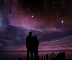 astronomy, boy, and girl image