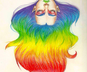 art, hair, and magic image